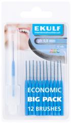 Ekulf hammasväliharja ph ABC 0,8 sininen X12 kpl