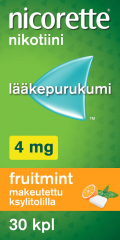 NICORETTE FRUITMINT 4 mg lääkepurukumi 30 fol