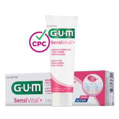 GUM SensiVital+ hammastahna 75 ml