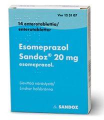 ESOMEPRAZOL SANDOZ 20 mg enterotabl 14 fol